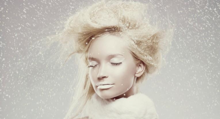 Ice maiden in snow